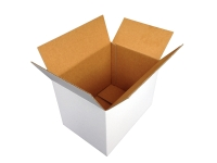 SINGLE WALL SHIPPING BOX 230 X 230 X 180MM WHITE - PACK OF 25