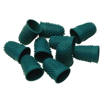 ESSELTE THIMBLETTES SIZE 0 GREEN - PACK OF 10