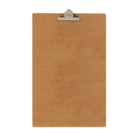 MARBIG MASONITE BROWN CLIPBOARD FOOLSCAP - EACH