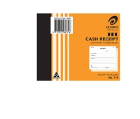 OLYMPIC 714 CASH RECEIPT DUPLICATE CARBONLESS BOOK 125X100MM - EACH