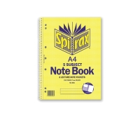 SPIRAX 596 5 SUBJECT NOTE BOOK A4 250 PAGE - EACH