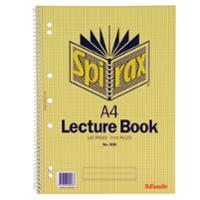 SPIRAX 906 SPIRAL BOUND LECTURE NOTE BOOK A4 140 PAGE - EACH