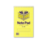 SPIRAX 563 TOP OPENING NOTE PAD 200 X 127MM 100 PAGE - EACH