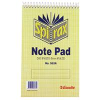 SPIRAX 563A TOP OPENING NOTE PAD 200 X 127MM 200 PAGE - EACH