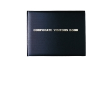 COLLINS CORPORATE VISITORS BOOK 300 X 200MM 192 PAGE BLACK - EACH
