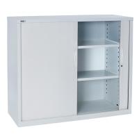 GO STEEL TAMBOUR DOOR CUPBOARD 1016H X 1200W X 473D WHITE - EACH