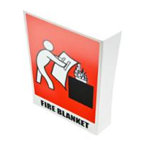BANTEX  FIRE BLANKET  ANGLED LOCATION SIGN 150MM X 225MM - EACH