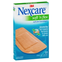 NEXCARE SOFT N FLEX STRIPS LARGE - PACK OF 10