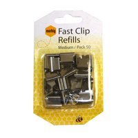 MARBIG FAST CLIPS REFILLS MEDIUM SILVER - BOX OF 50