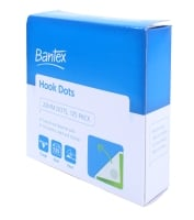 BANTEX VELCRO DOT HOOKS ONLY 22MM X3.6M - BOX OF 125