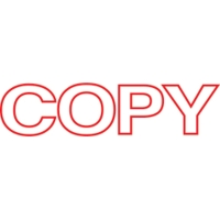 SHINY SELF-INKING  COPY  STAMP RED INK- EACH