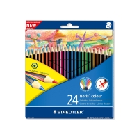 STAEDTLER NORIS COLOUR COLOURED PENCILS ASSORTED - PACK OF 24