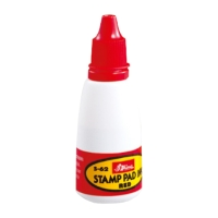 SHINY REFILL STAMP PAD INK BOTTLE 28ML RED - EACH