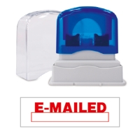 SHINY SELF-INKING  EMAILED  + DATE STAMP RED INK - EACH