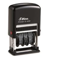 SHINY SELF-INKING ADJUSTABLE DATER STAMP 4MM BLACK INK - EACH