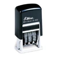 SHINY SELF-INKING ADJUSTABLE DATER STAMP 3MM BLACK INK - EACH