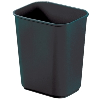 JASTEK PLASTIC WASTE BIN 12 LITRE 288 X 200 X 300MM BLACK - EACH