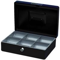 CONCORD NUMBER 10 CASH BOX 250 X 180 X 80MM BLACK - EACH