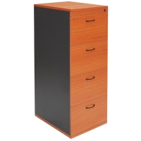 RAPID WORKER 4 DRAWER FILING CABINET CHERRY/IRONSTONE  - EACH
