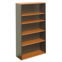 RAPID WORKER BOOKCASE 900W X 315DX1800HMM BEECH/IRONSTONE  - EACH