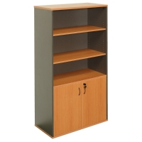 RAPID WORKER WALL UNIT 900WX450DX1800H CHERRY/IRONSTONE  - EACH