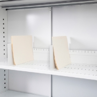 GO TAMBOUR DOOR SLOTTED SHELF 900WX400D WHITE CHINA  - EACH