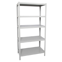 RAPIDLNE BOLTLESS SHELVING UNIT 914WX457DX1830HW/5 SHELVES SILVER GREY  - EACH