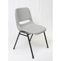 RAPIDLINE POLY PLASTIC CHAIR LIGHT GREY  - EACH