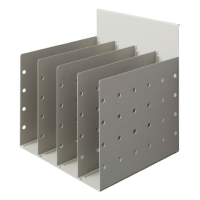 RAPID SCREEN DOCUMENT DIVIDER 4 SPACE PRECIOUS SILVER  - EACH