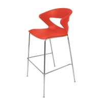 RAPID LINE TAURUS POLY BAR STOOL RED  - EACH