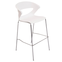 RAPIDLINE TAURUSE POLY BAR STOOL WHITE  - EACH