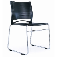 RAPIDLINE ZEST SLED BASE VISITORS CHAIR LINKING BLACK  - EACH