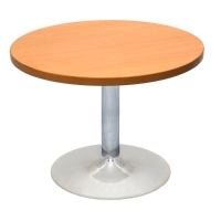 RAPIDLINE CHROME BASE TABLE WITH 1200 ROUND TOP CHERRY  - EACH