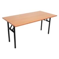 RAPIDLINE FLIP TOP TABLE 1500WX750DX730HTOP CHERRY/PRECUOUS SILVER LEGS  - EACH