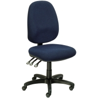 SEATING SOLUTIONS POSTURIGHT HIGH BACK TASK CHAIR NAVY - EACH