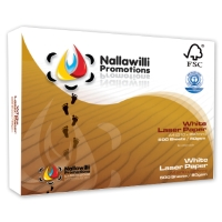 A4 NALLAWILLI 100% RECYCLED PAPER 80GSM WHITE - BOX OF 5 REAMS