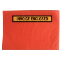 INVOICE ENCLOSED  SELF-ADHESIVE ENVELOPE 155 X 115MM RED - BOX OF 1000