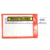 INVOICE ENCLOSED  SELF-ADHESIVE ENVELOPE 175 X 115MM RED - BOX OF 1000