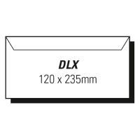 AOP DLX WALLET SELF SEAL ENVELOPE WHITE - BOX OF 500