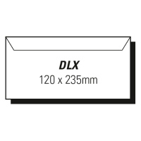 AOP DLX WINDOW FACE WALLET SELF SEAL SECURE ENVELOPE WHITE - BOX OF 500
