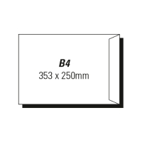 AOP B4 POCKET PEEL-N-SEAL ENVELOPE GOLD - BOX OF 250