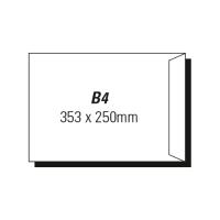 AOP B4 POCKET PEEL-N-SEAL ENVELOPE WHITE - BOX OF 250
