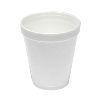 DARTS FOAM CUPS WHITE 8OZ - BOX OF 1000