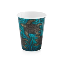 BIOCUP INDIGENOUS DOUBLE WALL PAPER CUP BLUE 8OZ - BOX OF 1000