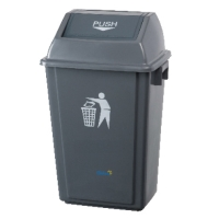 OATES PLASTIC LARGE FLIP BIN GREY 322X457X750MM - EACH