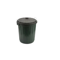 OATES GARBAGE BIN WITH LOCAKABLE LID 75L 540X540X620 - EACH