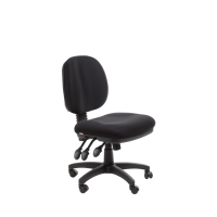 ACE MELBOURNE MEDIUM BACK ERGONOMIC CHAIR BLACK - EACH