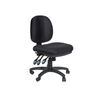 ACE MELBOURNE MEDIUM BACK ERGONOMIC DUAL DENSITY CHAIR BLACK - EACH