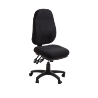 ACE SYDNEY EXTRA HIGH BACK ERGONOMIC CHAIR DUAL DENSITY BLACK - EACH
