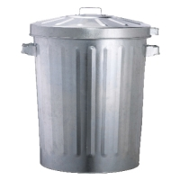 OATES GALAVANISED GARBAGE BIN WITH LOCAKABLE LID 76L 540X540X620 - EACH